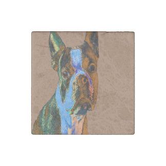 Boston Terrier Stone Magnet