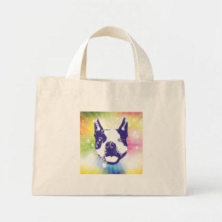 Boston Terrier Sunburst Mini Tote Bag