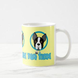 Boston Terrier Tea Party Basic White Mug