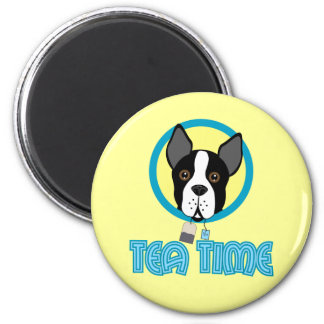 Boston Terrier Tea Party Refrigerator Magnets