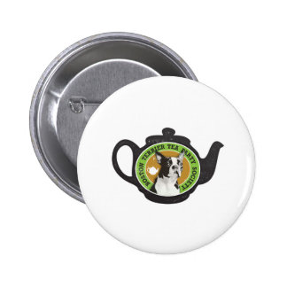 Boston Terrier Tea Party Society Button