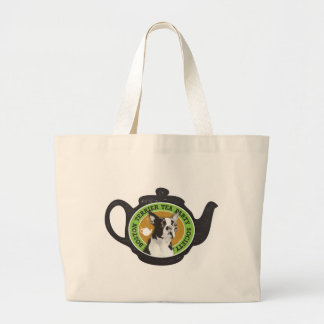 Boston Terrier Tea Party Society Canvas Bags