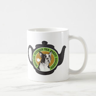 Boston Terrier Tea Party Society Basic White Mug