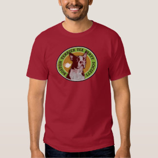 Boston Terrier Tea Party Society - Customized T Shirts