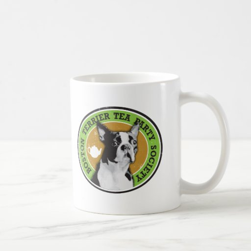 Boston Terrier Tea Party Society Coffee Mug