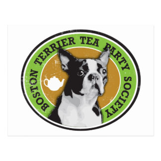 Boston Terrier Tea Party Society Postcard
