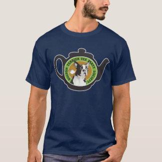 Boston Terrier Tea Party Society T-Shirt