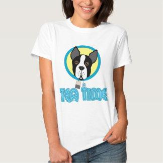 Boston Terrier Tea Party T-shirt