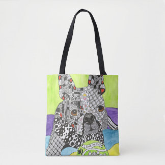 Boston Terrier Tote Bag (You can Customise)