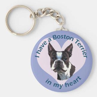 Boston Terrier v3 Key Ring