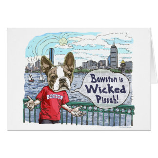 Boston Terrier Wicked Pissah Gear Card