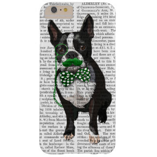 Boston Terrier With Green Moustache And Spotty Barely There iPhone 6 Plus Case