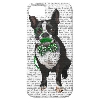 Boston Terrier With Green Moustache And Spotty iPhone 5 Case