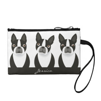 Boston Terrier Wristlet Bag