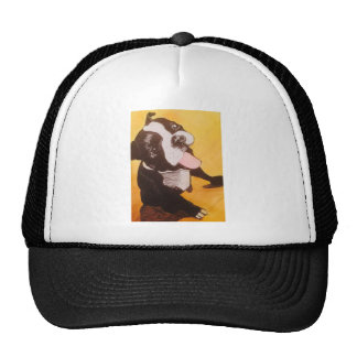 Boston Terrier Yellow Looking Up Cap