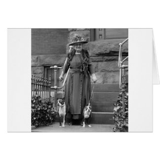 Boston Terriers & 1920s Fashion Greeting Card