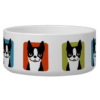 Boston Terriers Dog Bowl