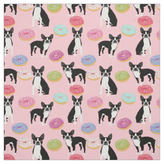 Boston Terriers Donuts - Cute Dog fabric