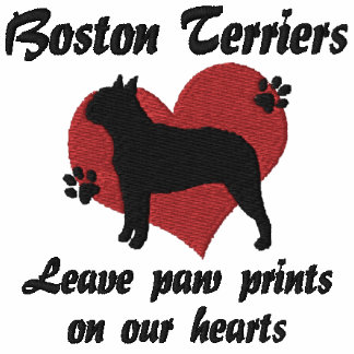 Boston Terriers Leave Paw Prints