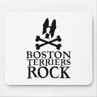 Boston Terriers Rock Mouse Pad