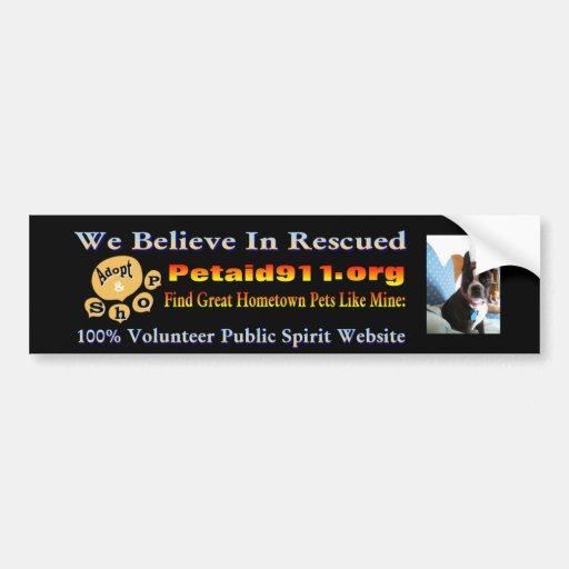 Boston Terriers Stick It! For Hometown Rescue Bumper Sticker