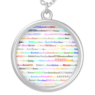 Boston Text Design II Round Necklace