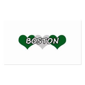 Boston Triple Hearts Business Card Templates