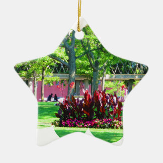 Boston USA America  Green Nature Photography Ceramic Ornament