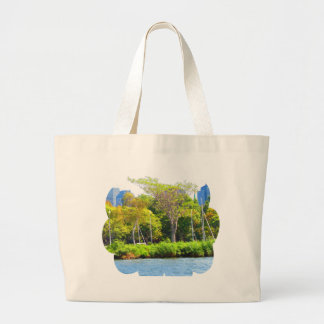 Boston USA America  Green Nature Photography Large Tote Bag