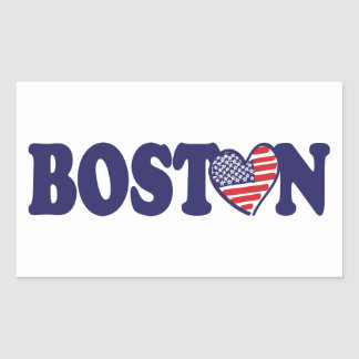 Boston USA Rectangular Sticker