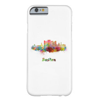 Boston V2 skyline in watercolor Barely There iPhone 6 Case