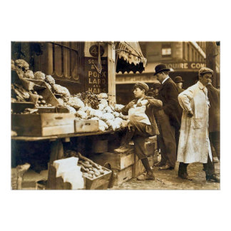 Boston Vegetable Sellers - Early 1900s Poster