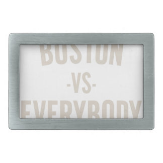 Boston Vs Everybody Rectangular Belt Buckle