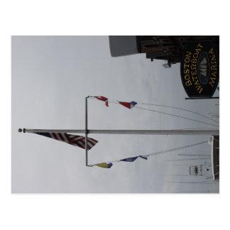 Boston Waterfront Marina Postcard