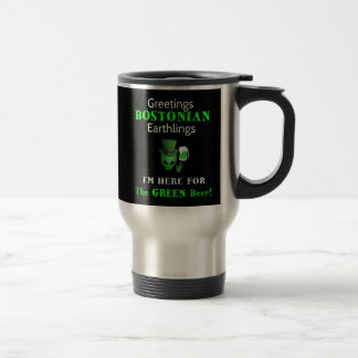 Bostonians St. Patrick's Day Party Travel Mug