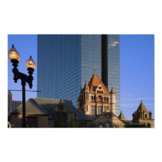 Boston's Copley Square in late afternoon light Print