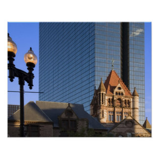 Boston's Copley Square in late afternoon light Poster