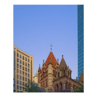 Boston's Copley Square in late afternoon light. Poster
