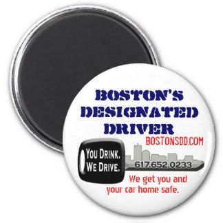 Boston's Designated Driver 6 Cm Round Magnet