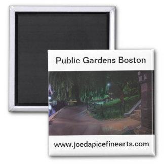 Boston's Public Garden Square Magnet