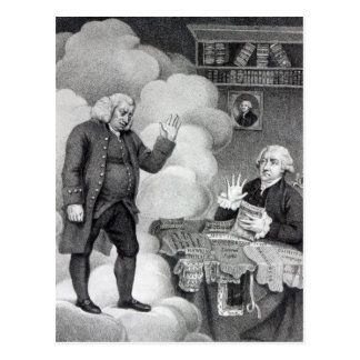 Boswell and the Ghost of Samuel Johnson Postcard