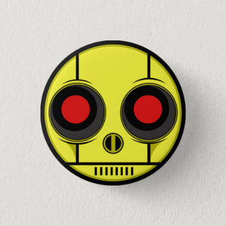 Bot Face 3 Cm Round Badge