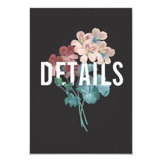Botanic Embrace Wedding Details Card
