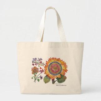 Botanical46 Large Orange Flower Bag