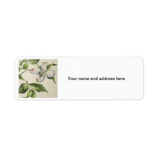 Botanical address lebels return address label