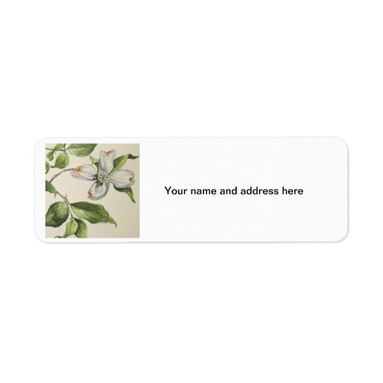 Botanical address lebels return address label
