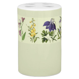 Botanical Alpine Flowers Floral Bath Set