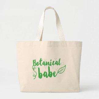 botanical babe (lady gardener) jumbo tote bag