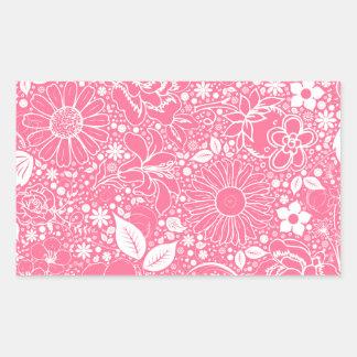 Botanical Beauties Light Pink Rectangle Sticker