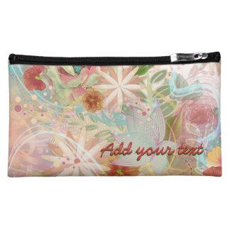Botanical Blast Custom Name Makeup Bag